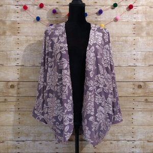 Anthro Paper Crane silky kimono cardigan